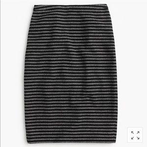 J. Crew striped tweed Pencil Skirt Size 4